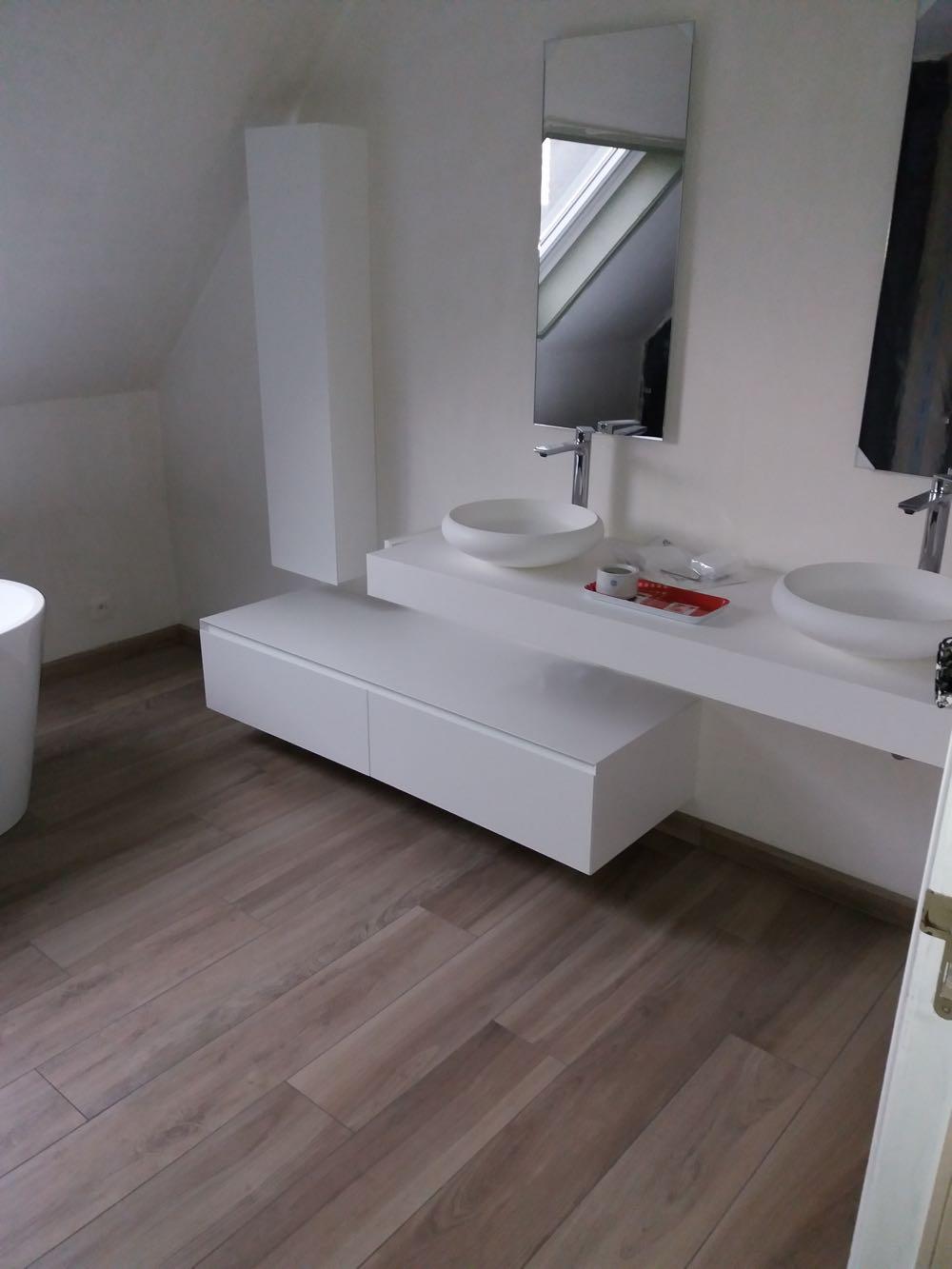 meuble vasque et rangement
